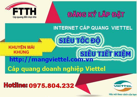 khuyến mại lắp mạng Viettel tháng 3/2015