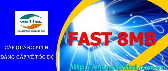 Cáp quang Viettel Fast 8Mb khuyến mãi cực lớn và hấp dẫn
