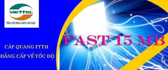 Cáp quang Viettel Fast 15Mb khuyến mãi khủng cực sốc