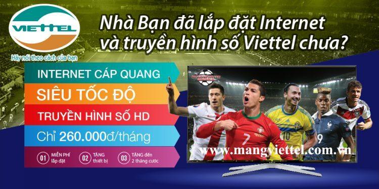 Lắp truyền hình Viettel tháng 8 - 2016 mới nhất