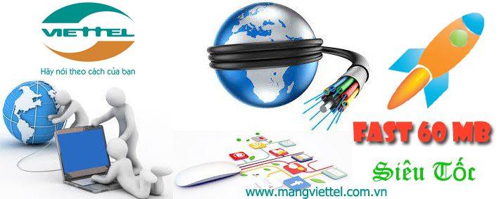 Cáp quang Viettel Fast 60 Mb khuyến mãi giá rẻ tốc độ cao
