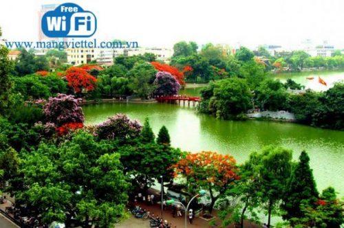 Hà Nội được dùng wifi miễn phí quanh Hồ Gươm