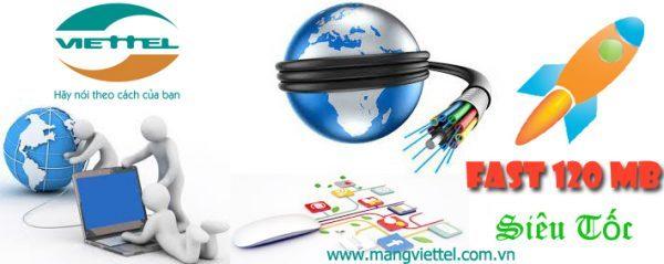 Cáp quang Viettel Fast 120 MB đăng ký nhận khuyến mãi lớn