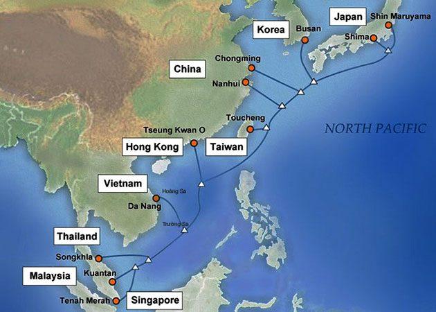 Việt Nam nối tuyến cáp quang biển APG giúp internet nhanh hơn