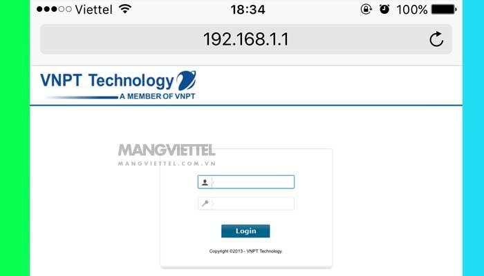 Hướng dẫn cách thay đổi mật khẩu wifi VNPT, pass modem VNPT