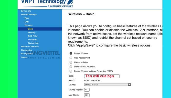 Đổi tên modem wifi VNPT