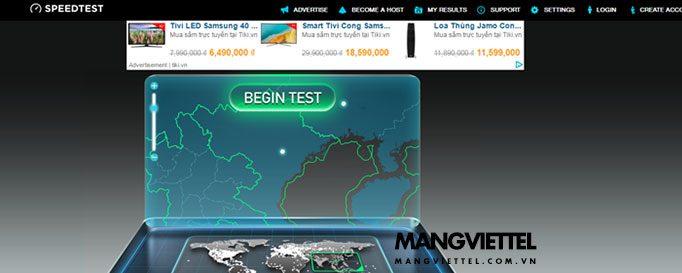 kiểm tra tốc độ mạng viettel, FPT, VNPT speedtest