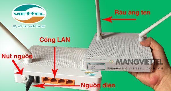 Cấu tạo modem wifi Viettel