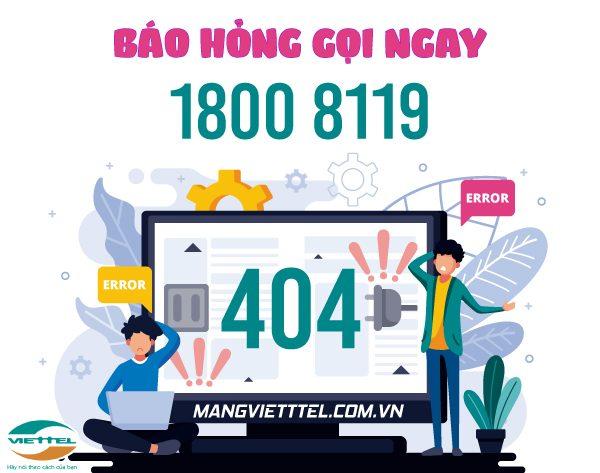 Số điện thoại báo hỏng internet Viettel toàn quốc