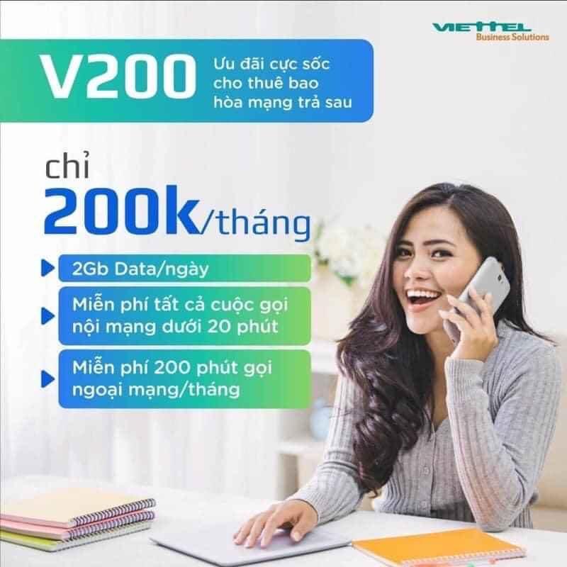 đăng ký trả sau Viettel V200