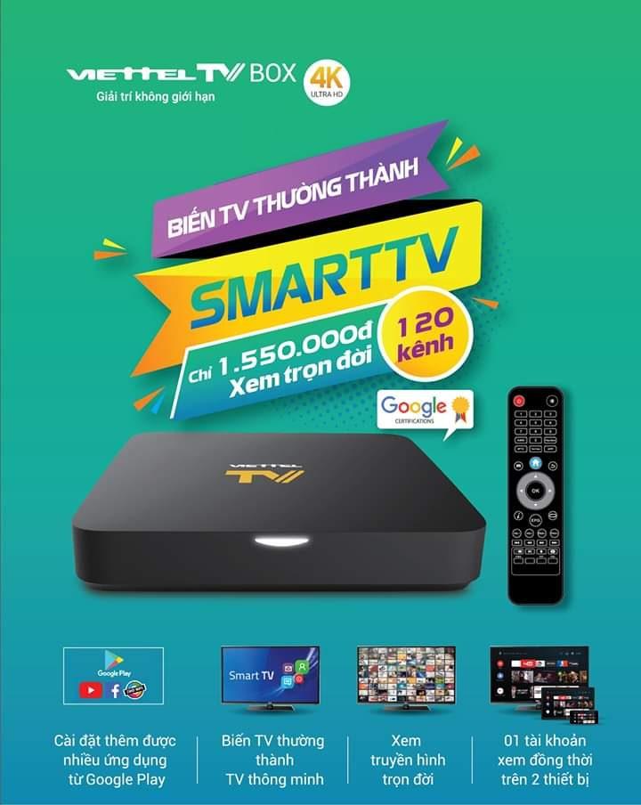 Box TV Viettel - Dich vụ truyền hình sử dụng Android TV Box của Viettel