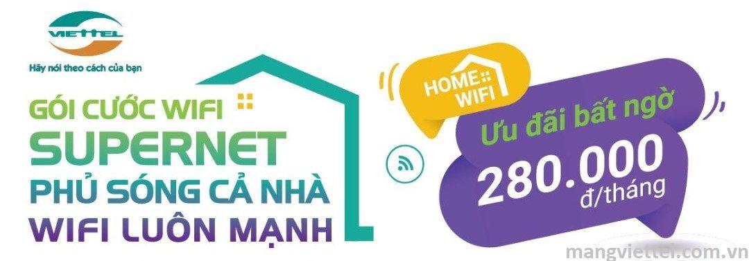 Gói cước Home Wifi - Internet cáp quang Viettel giá rẻ 2020