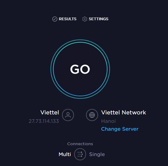 Hướng dẫn kiểm tra tốc độ mạng wifi các nhà mạng Viettel, VNPT, FPT