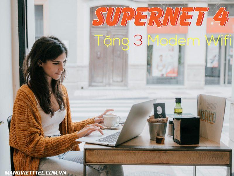 Gói cước cáp quang Viettel SuperNet 4 tốc độ 100Mbps giá chỉ từ 370K