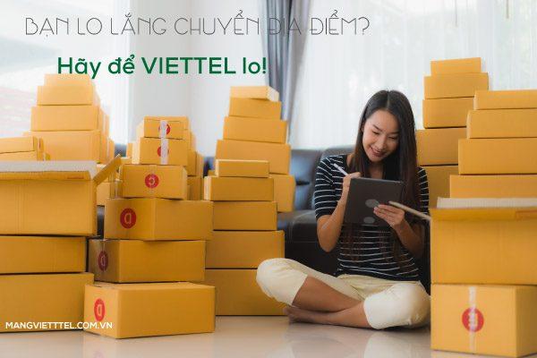 Chuyển địa điểm sử dụng internet Viettel