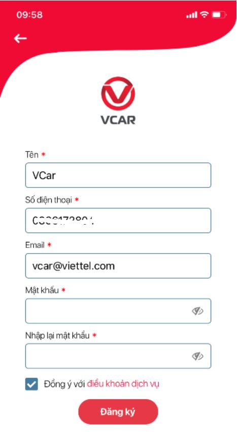 đăng ký tài khoản